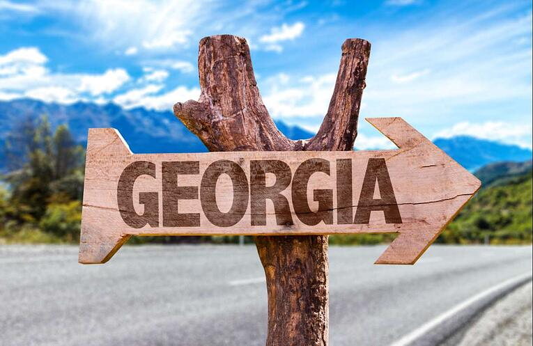 Georgia wooden sign (R) (S)