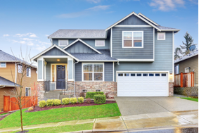 A large, beautiful house in a nice neighborhood, similar to a rental home GTL Real Estate might provide with Newnan property management services